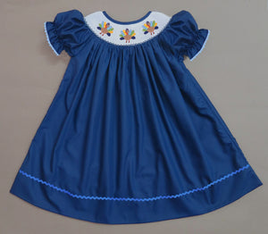 Navy Turkey Bishop Dress