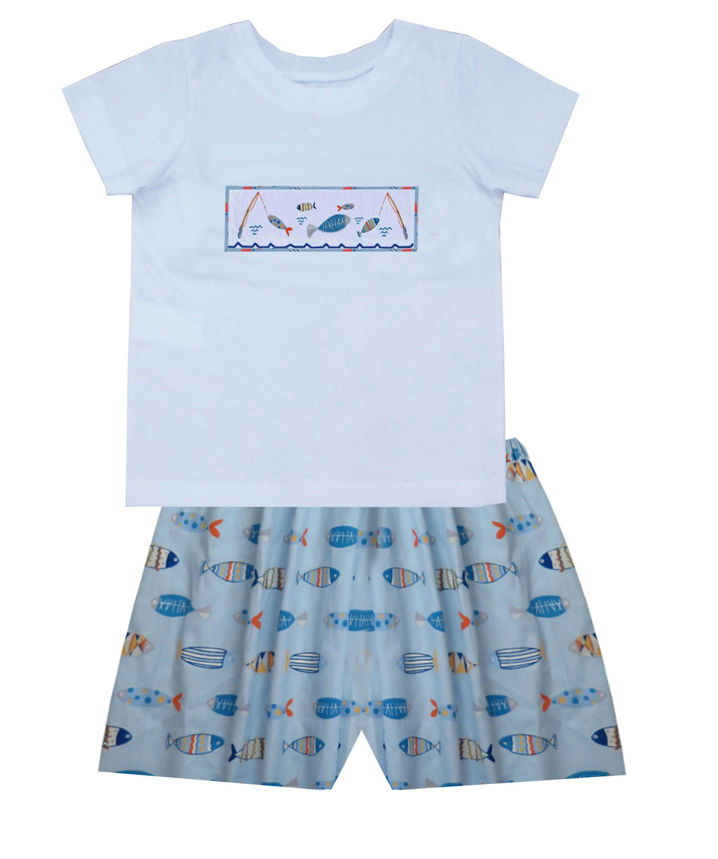 Fishin' Camp Boys Short Set