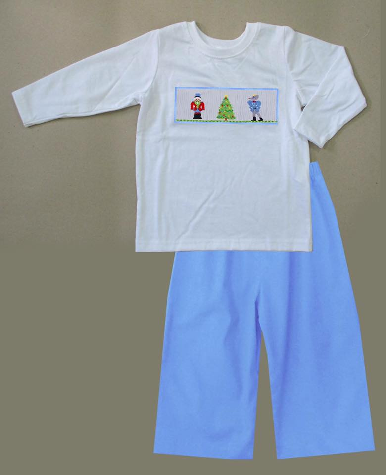 Blue Nutcracker Boys Pants Set