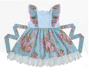 Flower and Lace Pinafore Dress