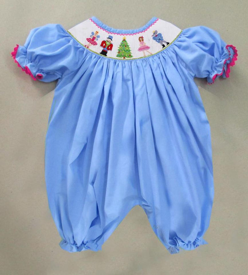 Blue Nutcracker Romper