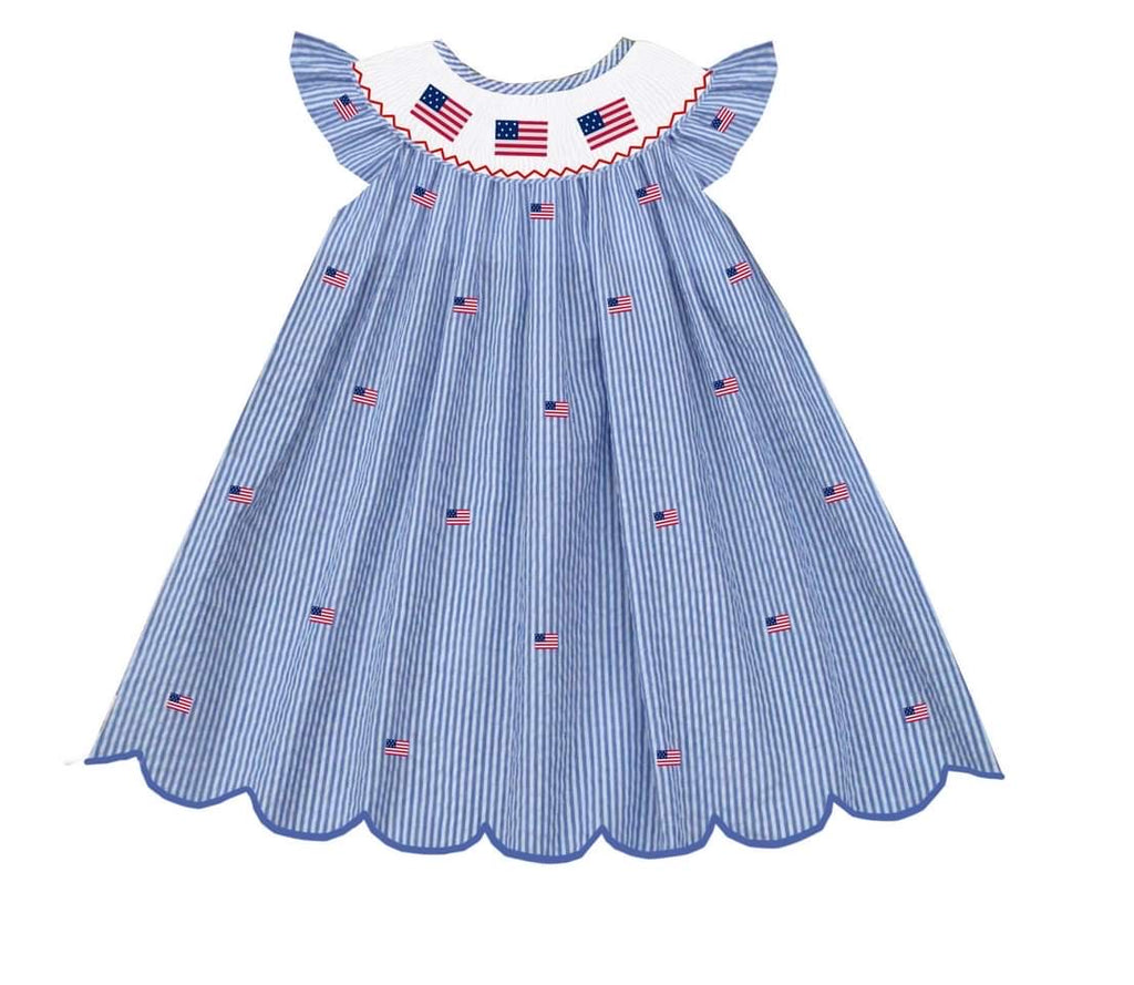 American Flag scallop Bishop Dress