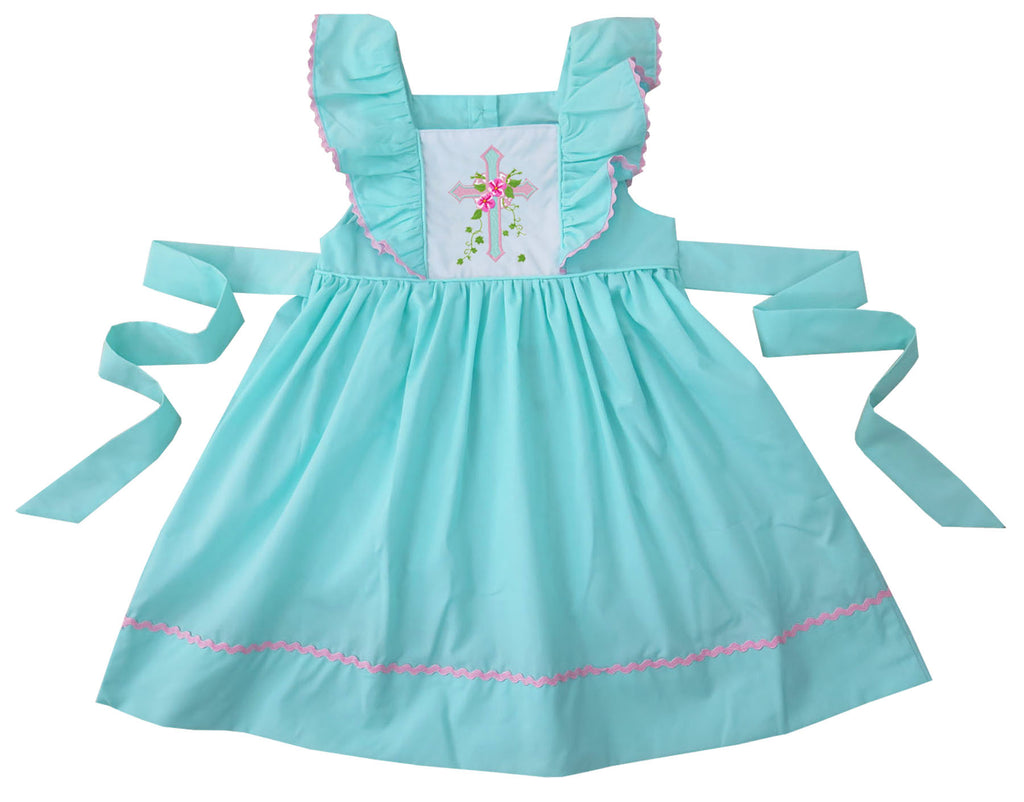 2020 EASTER CROSS PINAFORE DRESS