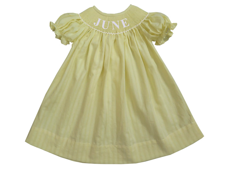 Personalized Yellow Spring Bishop Dress