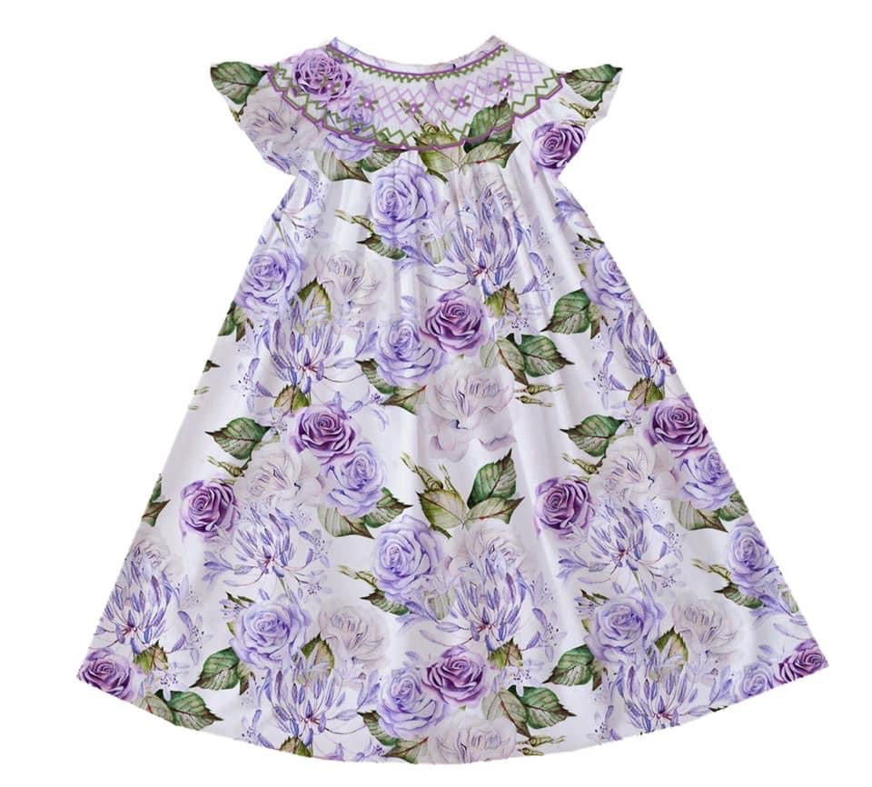 Jenna Floral Bishop Dress