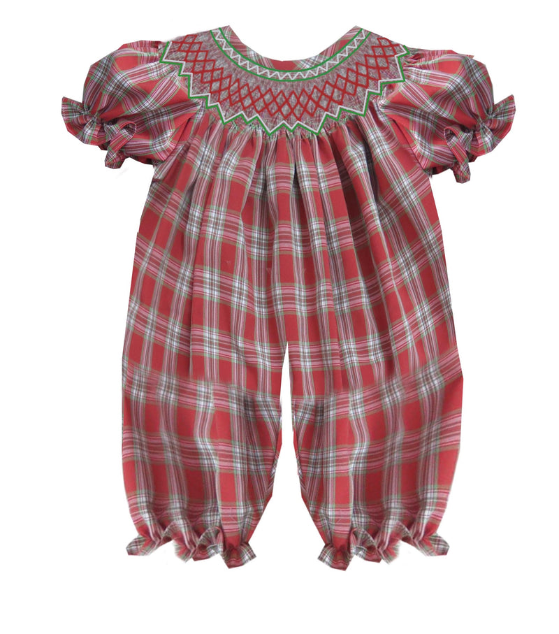 2019 Plaid Christmas Romper