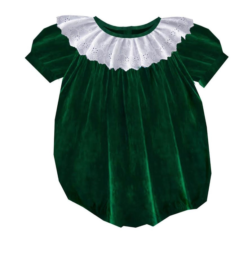 2020 Green Christmas Velvet Bubble