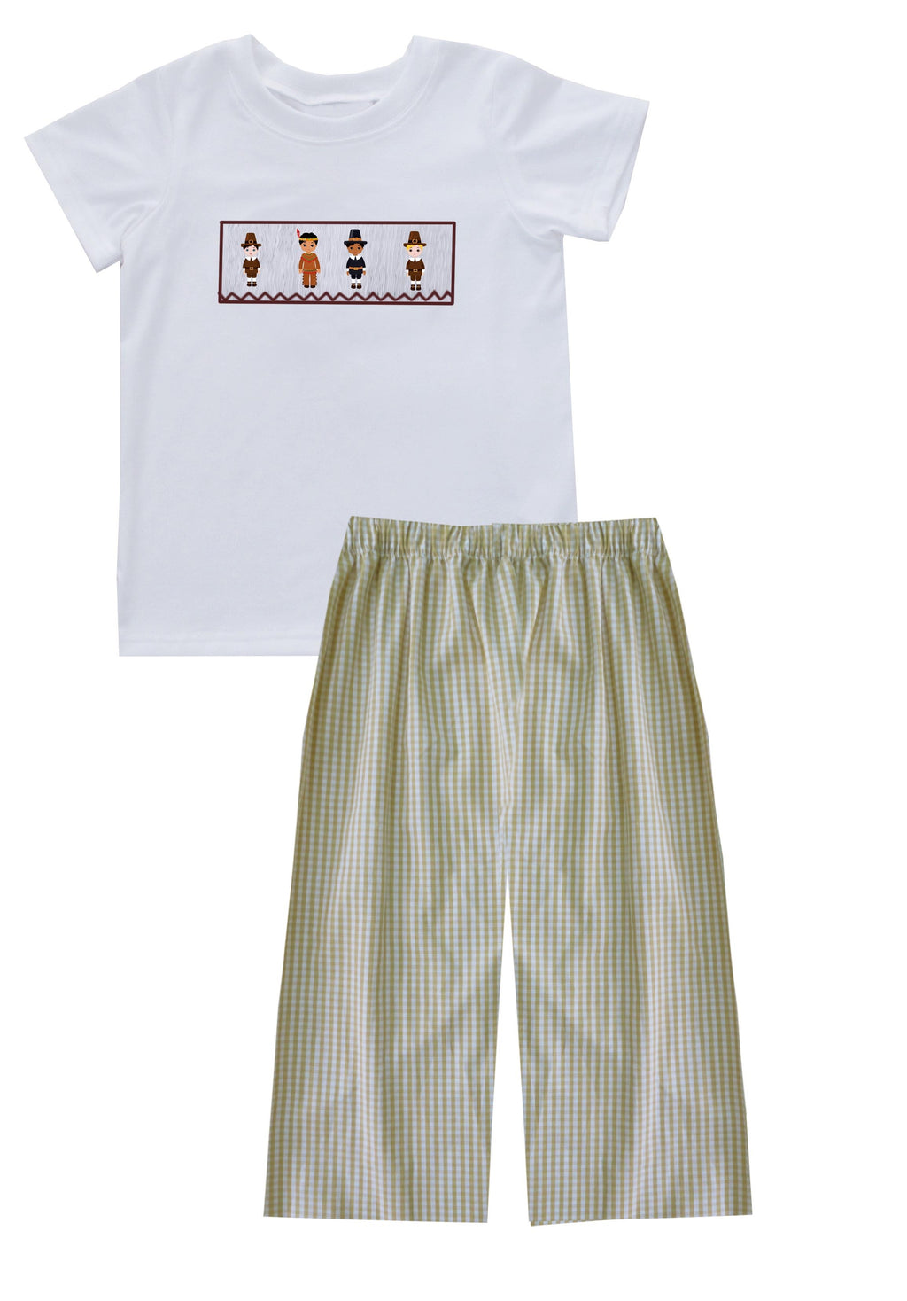 2019 Pilgrim and Indian Boy Pant Set with White shirt