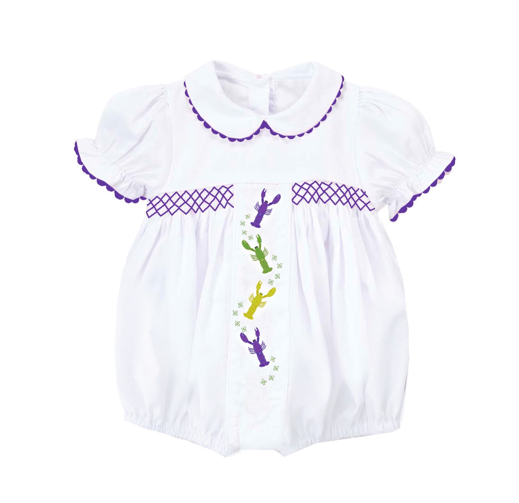 2019 MARDI GRAS crawfish embroidered bubble
