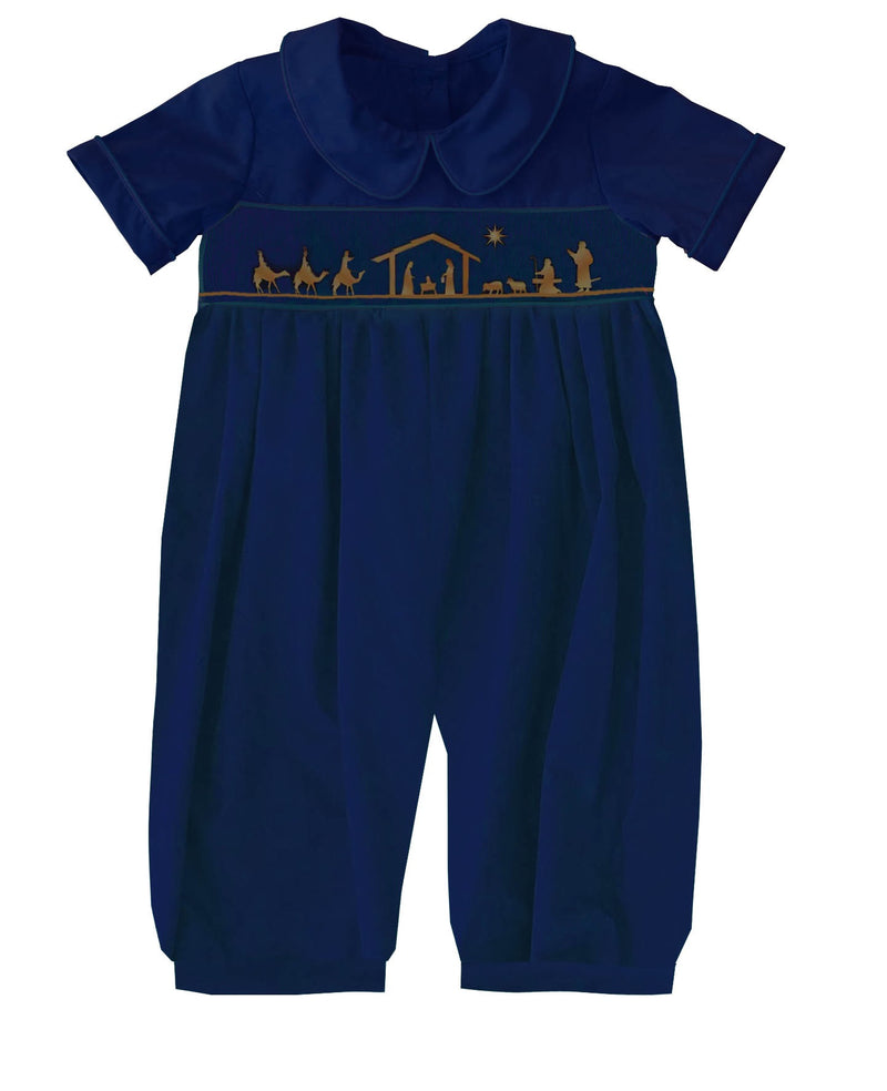2019 Nativity Collared Romper Boy