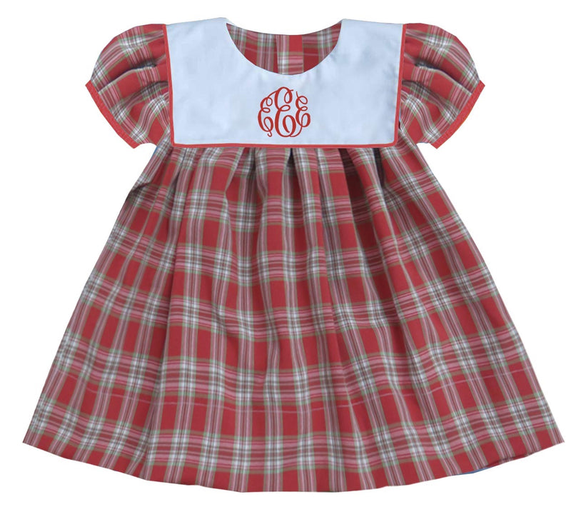 2019 Plaid Christmas Bib Dress