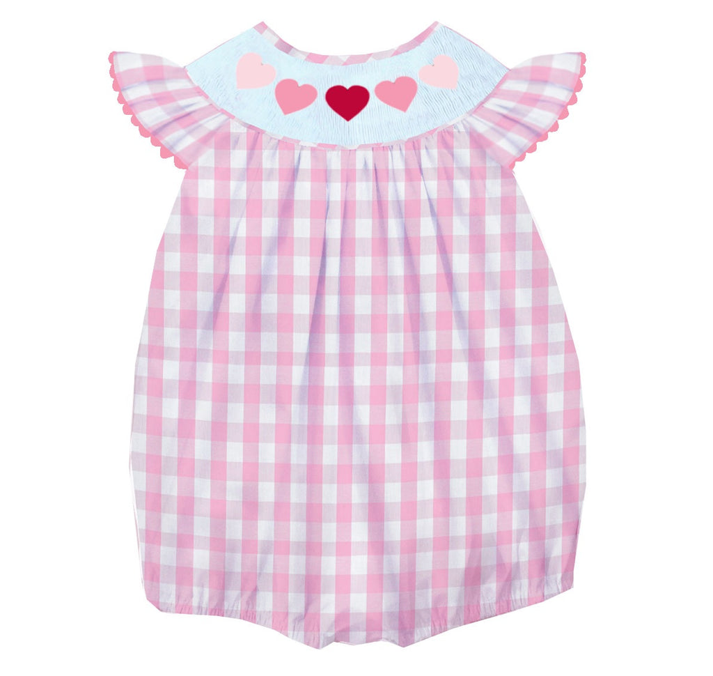 2019 valentines gingham heart girl bubble