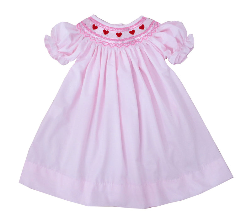 2019 valentines tiny heart bishop dress