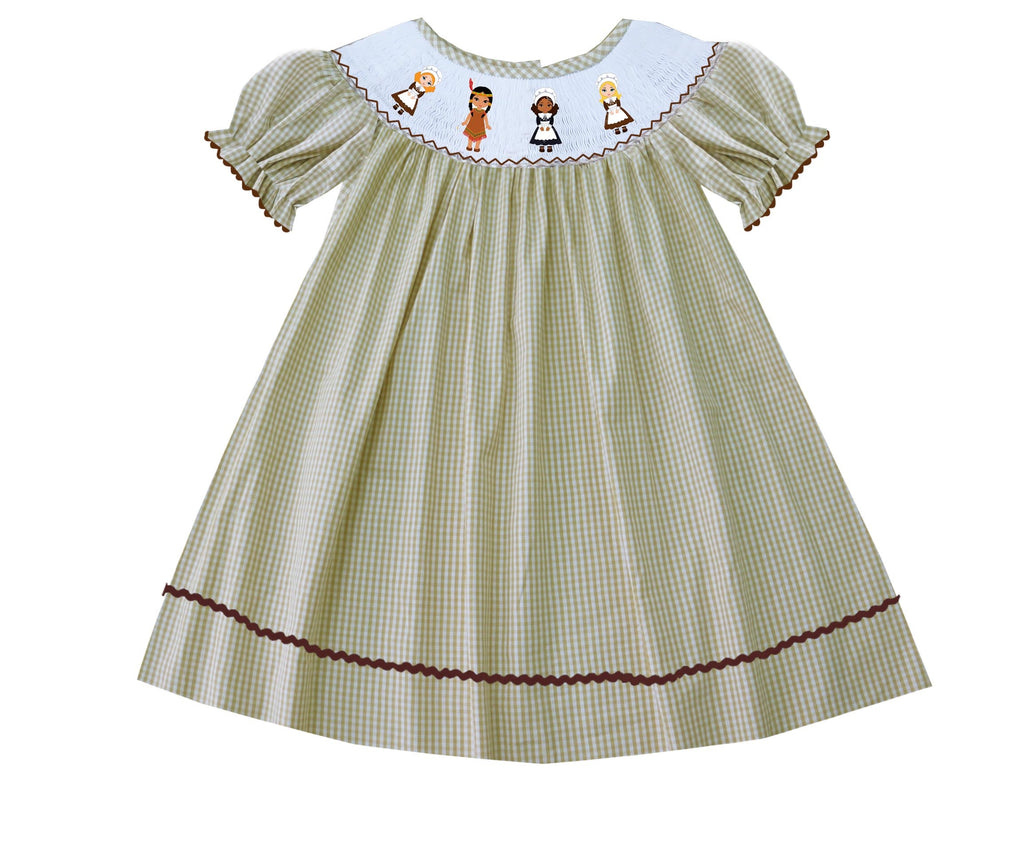 2019 Pilgrim and Indian Girl Bishop Dress - Gingham