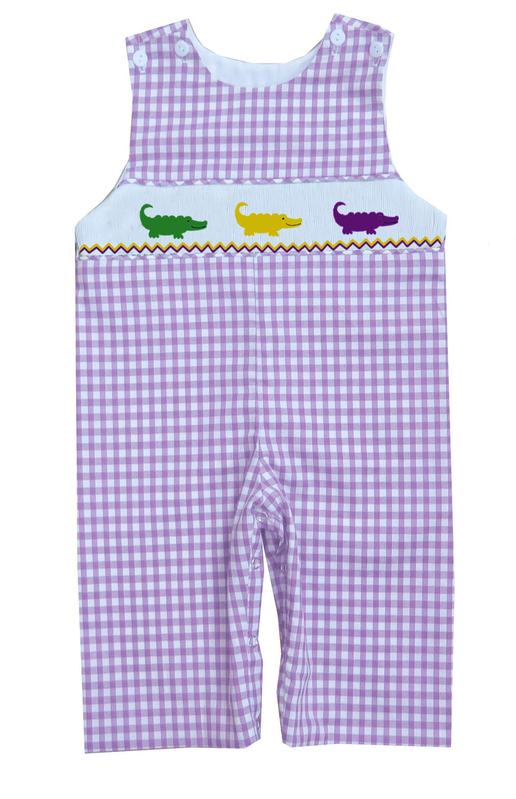 2019 Mardi Gras Alligator Gingham Longall
