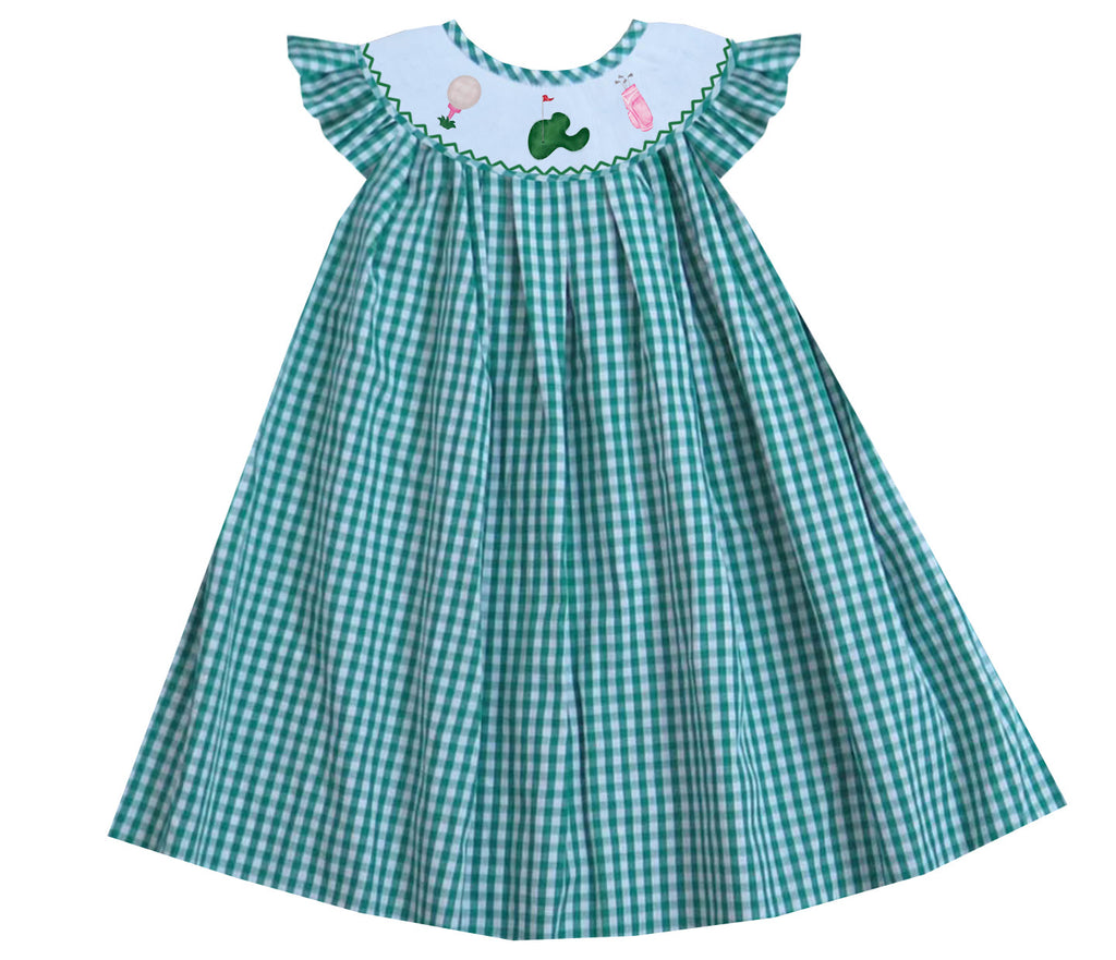 Golf Gingham Bishop Dress