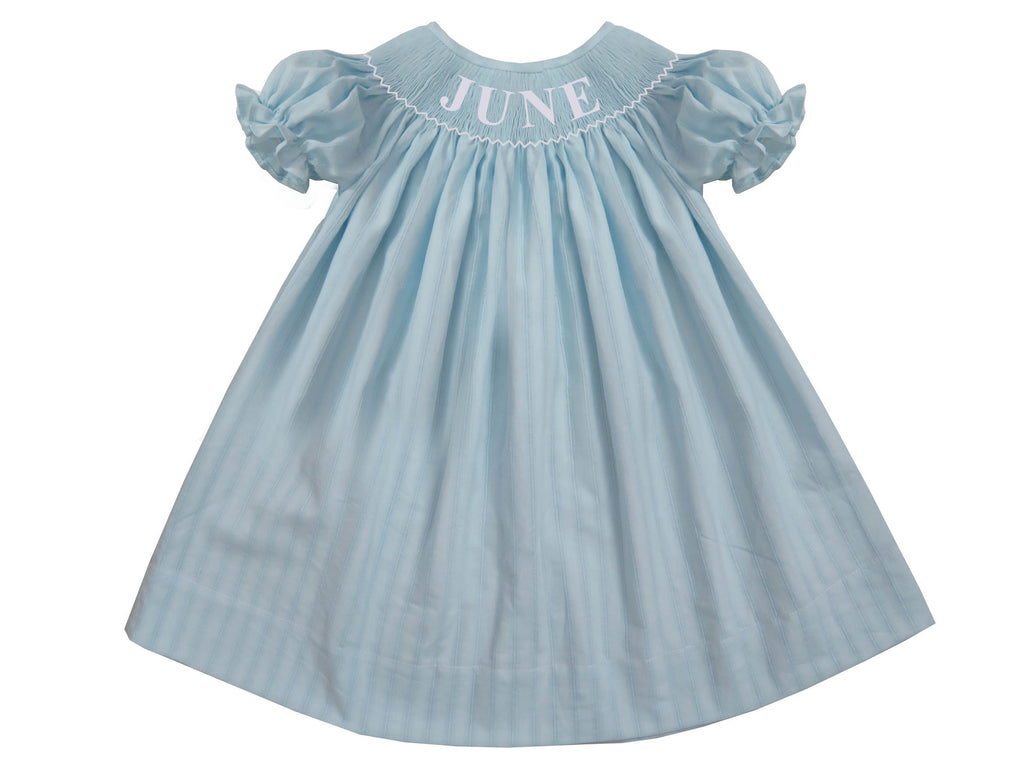 Personalized Light Blue Spring Bishop Dress