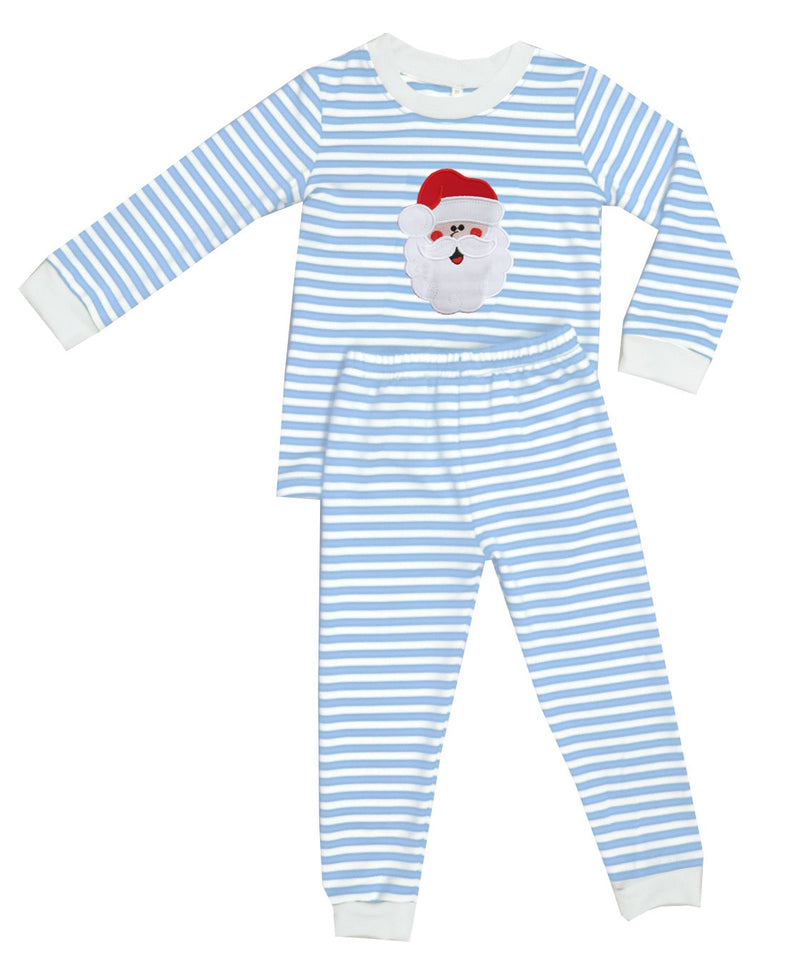 2019 Santa Pajamas Blue