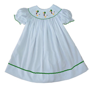 2019 Mallard Bishop Dress White