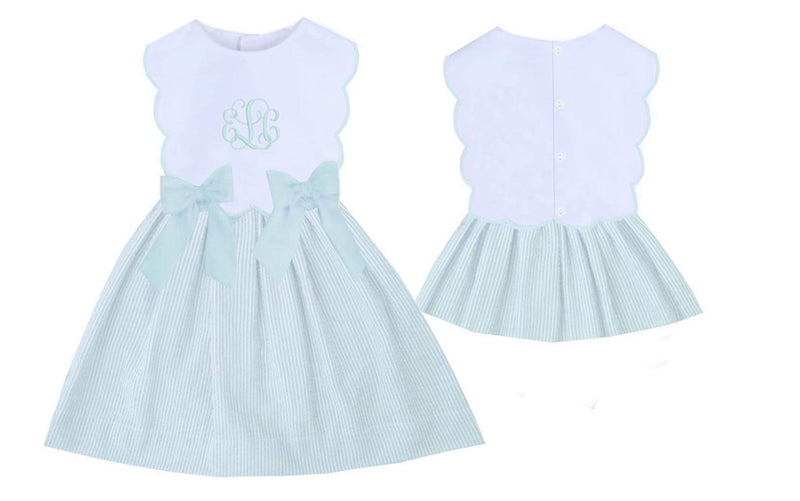 Remy Bow Dress Mint