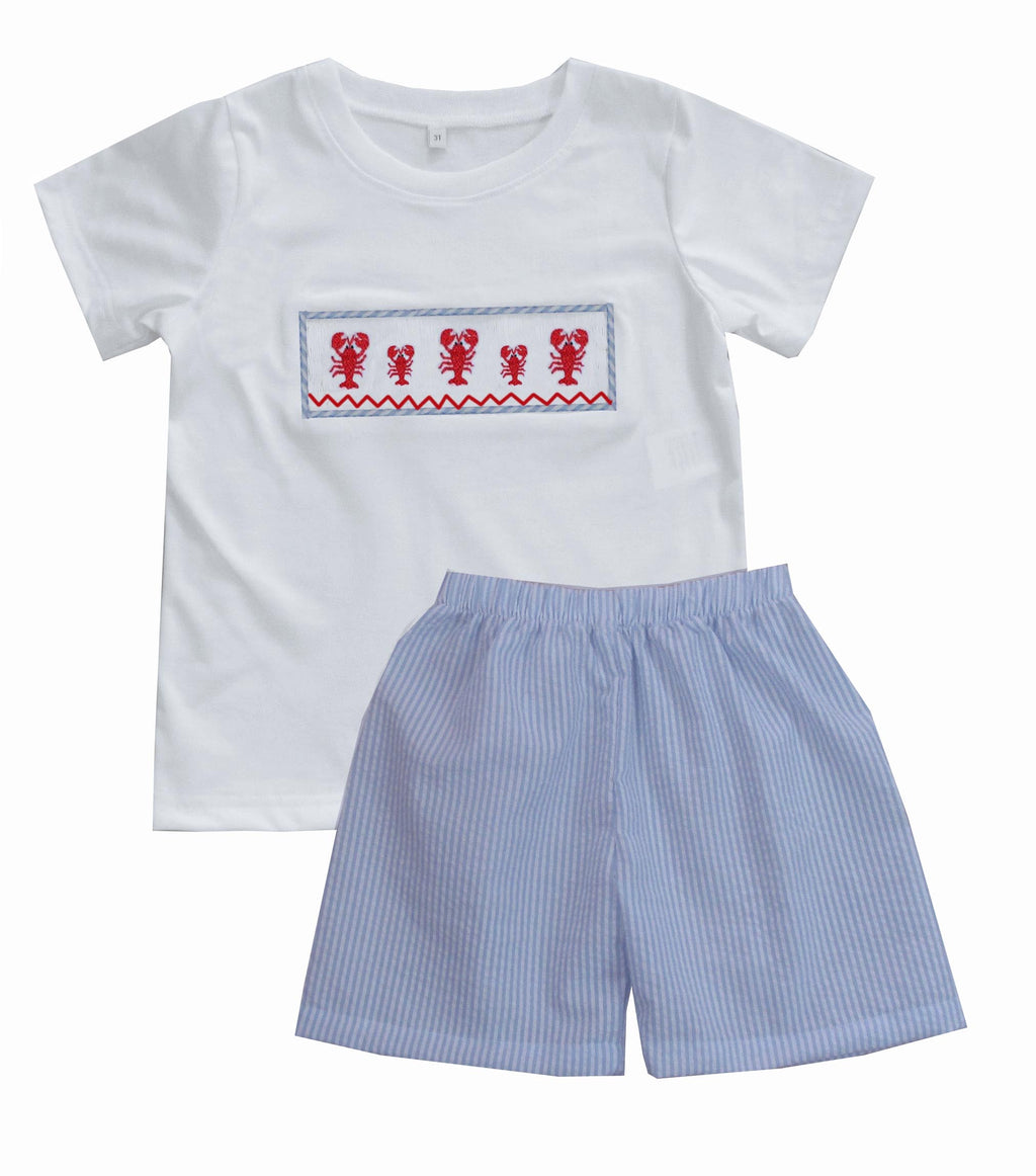 Blue Crawfish Boys Short Set