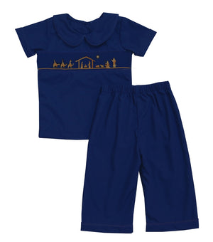2019 Nativity Collared Shirt and Pant Set