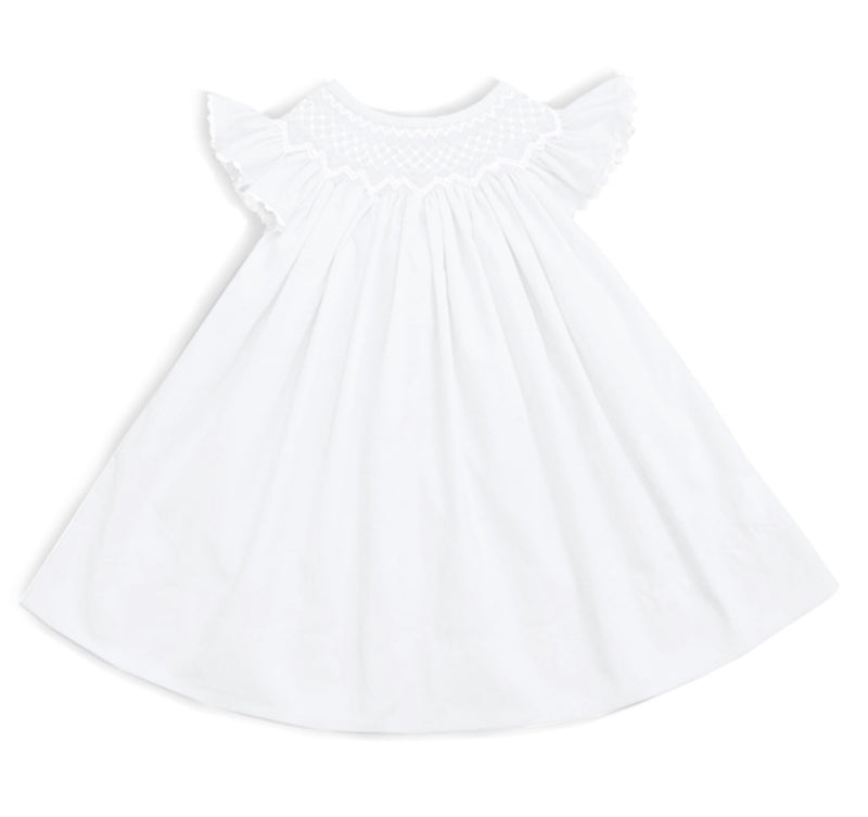 2020 Pearl White Bishop Dress