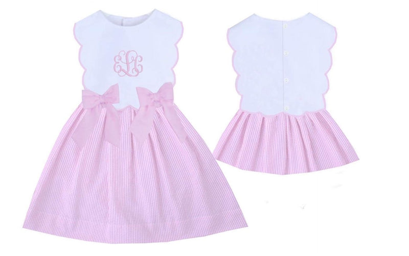 Remy Bow Dress Pink