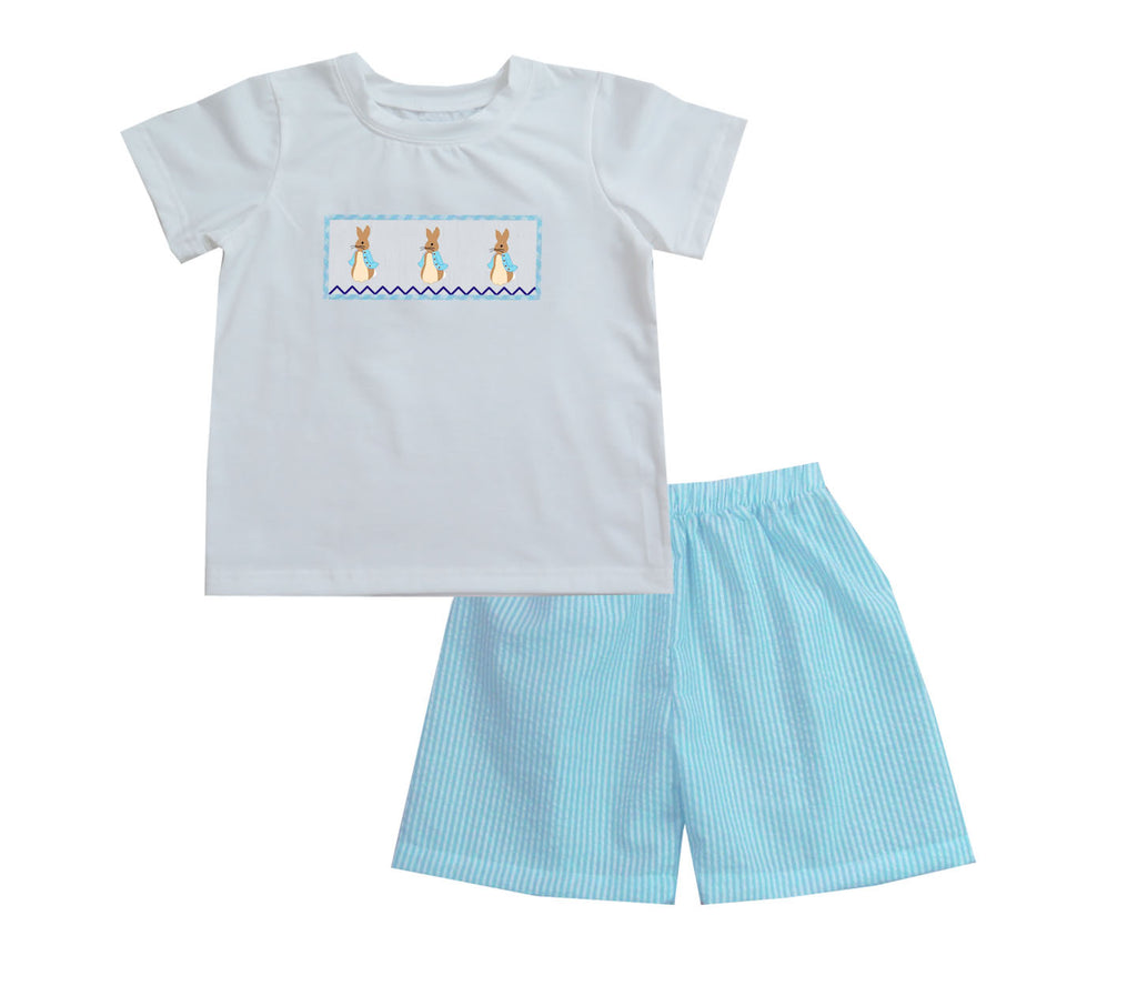 Christopher Peter Rabbit Easter Boy Short set