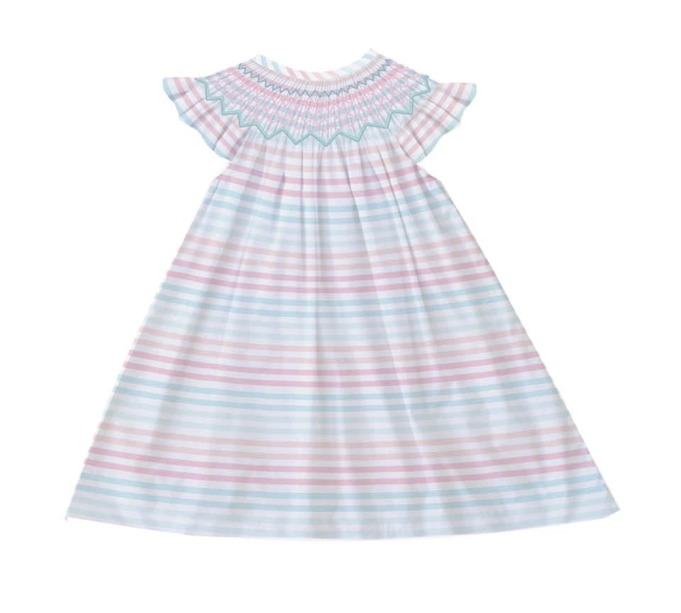 Bridgette Stripe Bishop Dress