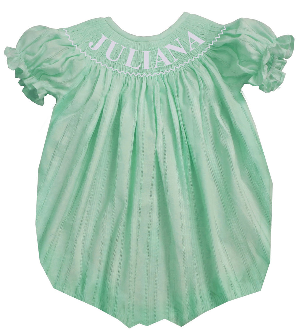 Personalized Mint Spring Bubble