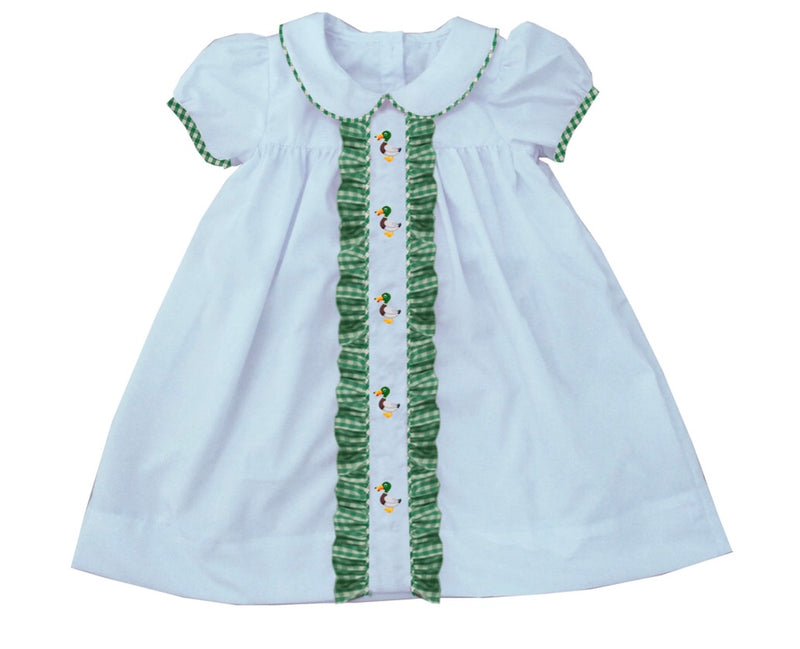 2019 Mallard Ruffle Dress White