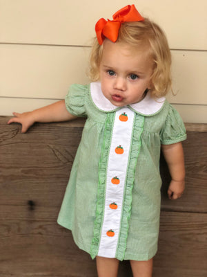 2019 Ruffle Front Pumpkin Dress