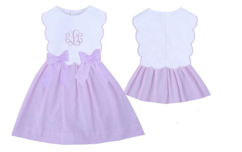 Remy Bow Dress Lavender