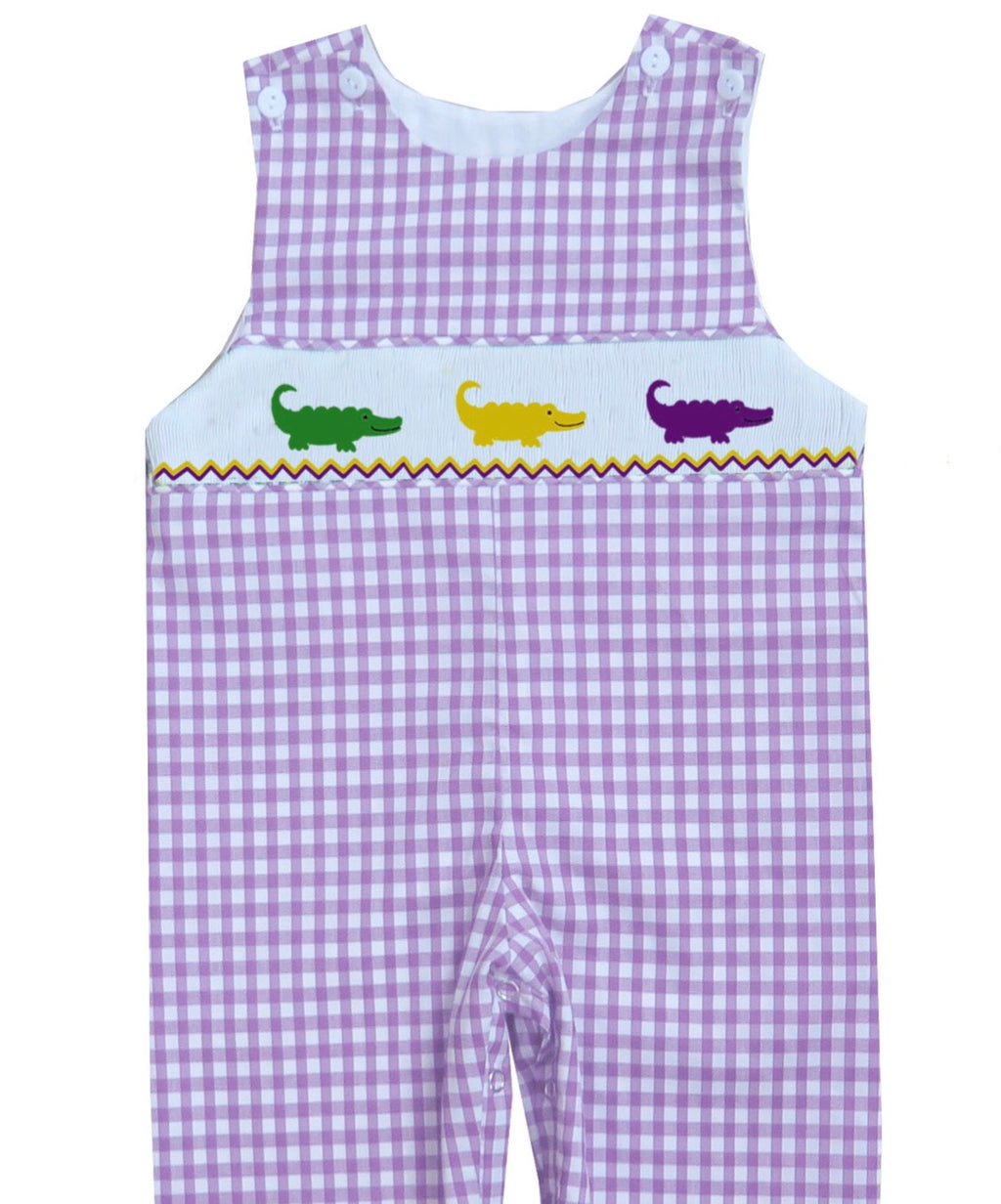 2019 Mardi Gras Alligator Gingham JonJon