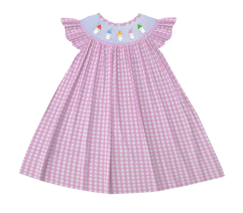 2020 Snowball Pink Gingham Dress