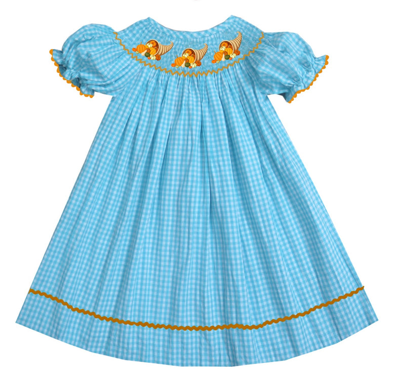2019 Cornucopia Bishop Dress Gingham