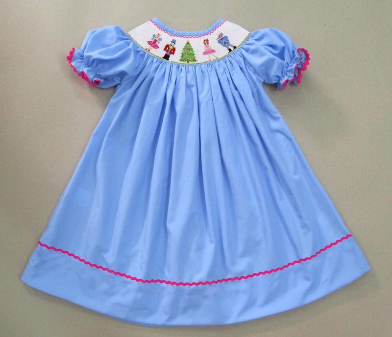 Blue Nutcracker Bishop Dress