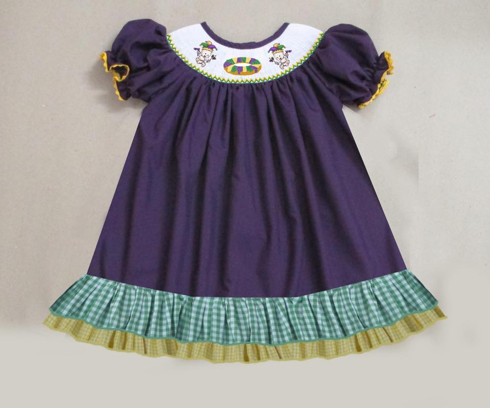 Baby King Cake Bishop Dress