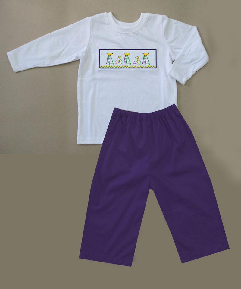 Mardi Gras Ladder Boys Pants Set
