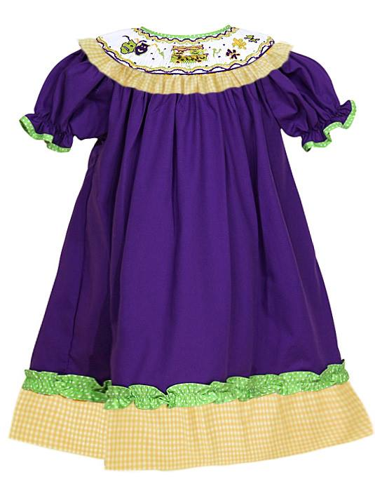 Mardi Gras Parade Bishop Dress