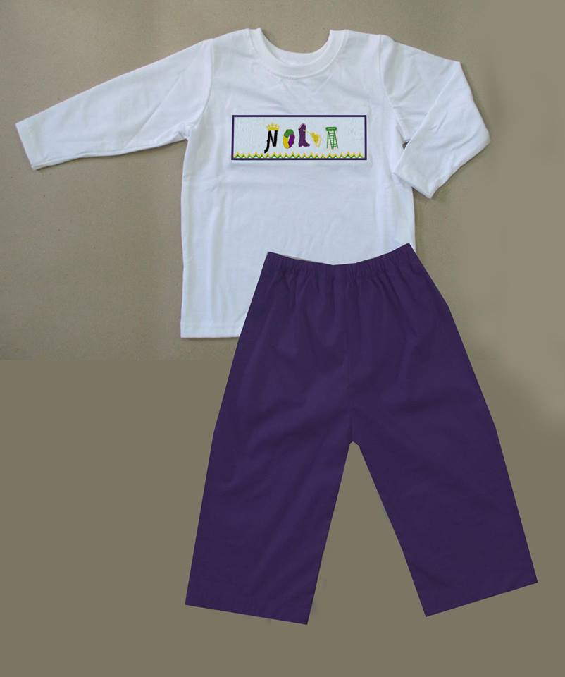 NOLA Mardi Gras Boys Pants Set