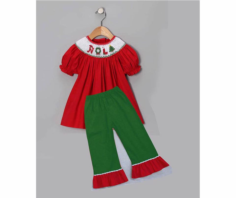 NOLA Christmas Girls Pants Set - IN STOCK