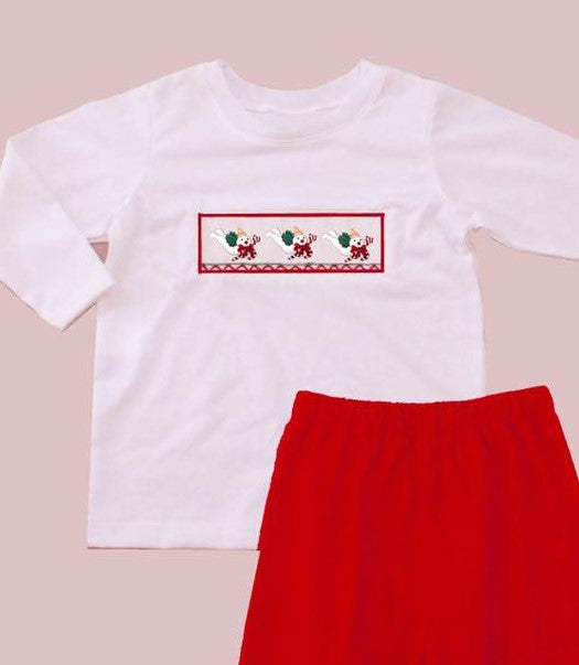 Red Mr. Bingle Inspired Tshirt ONLY
