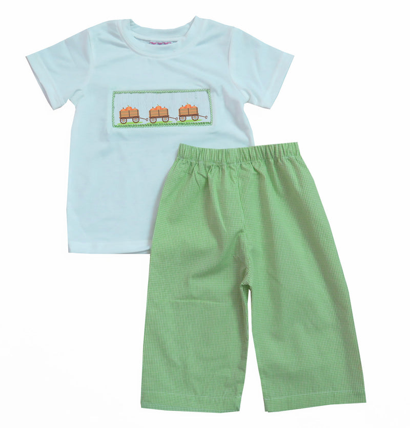 2019 Pumpkin Wagon Boys Pants Set