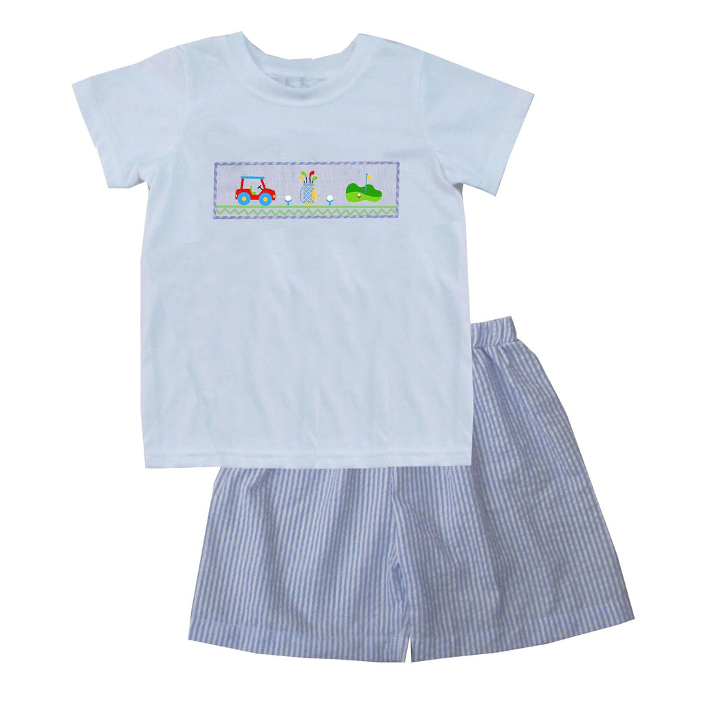 Golf Boys TShirt Short Set