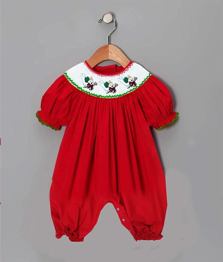 Red Mr. Bingle Inspired Romper