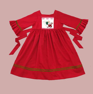 Red Mr. Bingle Inspired Pinafore Dress