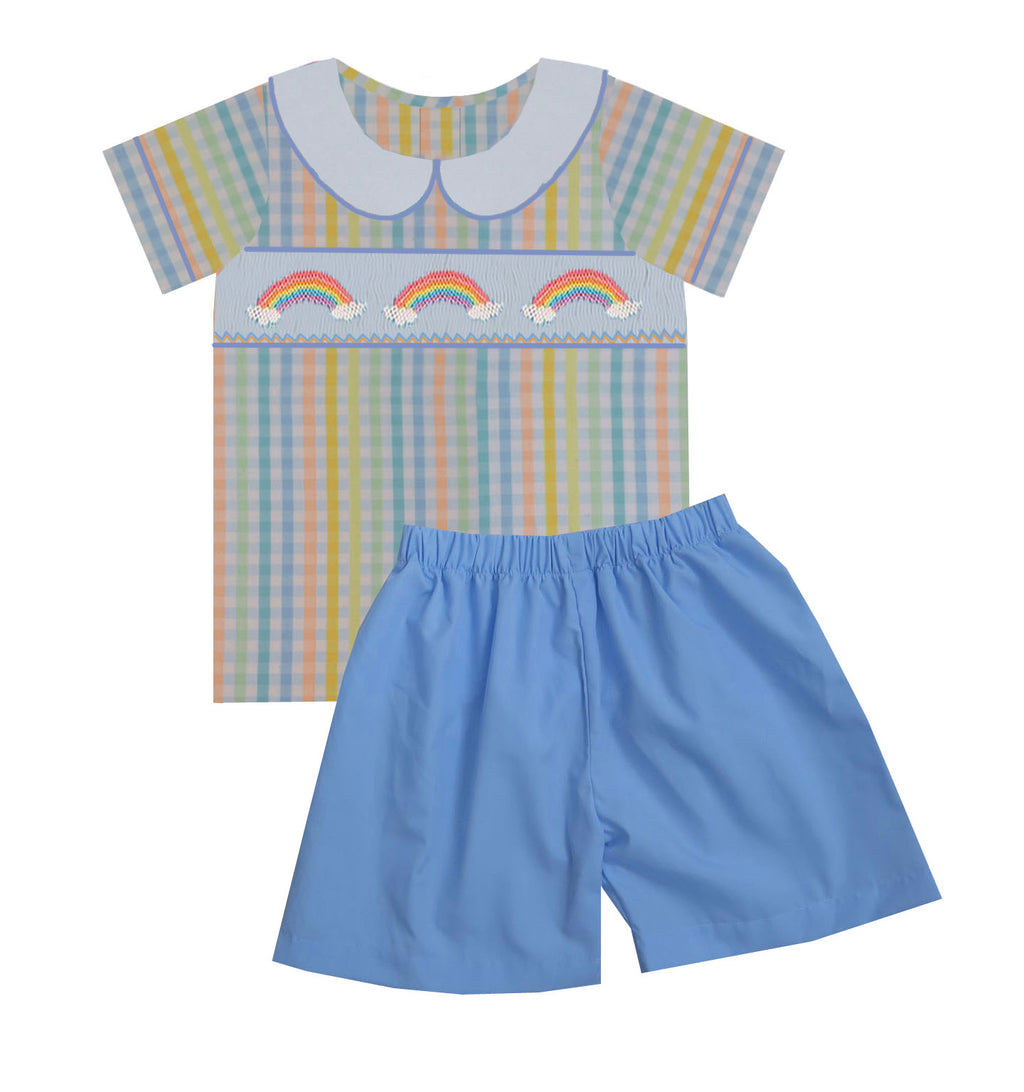 2020 Rainbow Boy Collar Short Set
