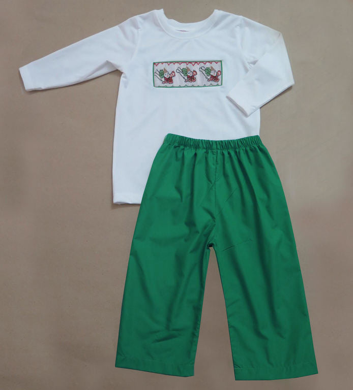 Emerald Green Mr. Bingle Pant Set